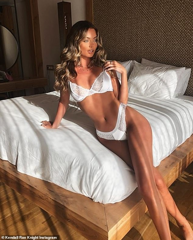 Love Islands Kendall Rae-Knight looks sexy in make-up